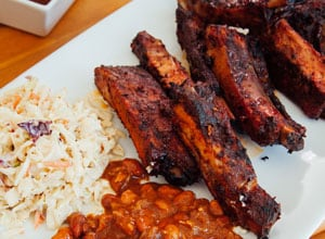 specials include slab of ribs and two sides Brothers BBQ Colorado