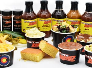 sides, sauces, and rubs available for purchase from Brothers BBQ Colorado