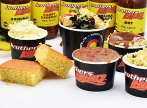 sides and sauce offered by Brothers BBQ Colorado
