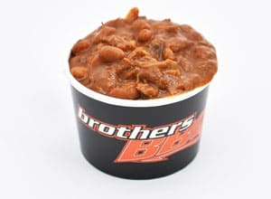 bbq beans are a side at Brothers BBQ Colorado