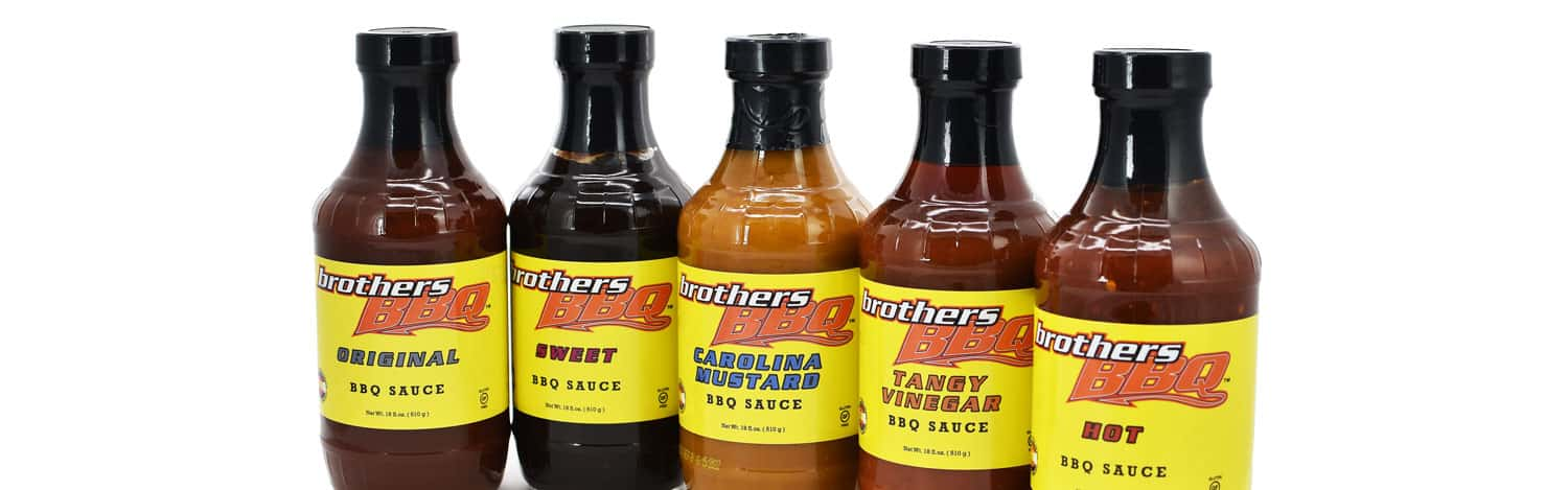 all bbq sauces in jars available for purchase at Brothers BBQ Colorado