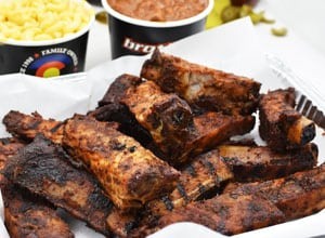 bbq ribs and sides as part of party pack Brothers BBQ Colorado