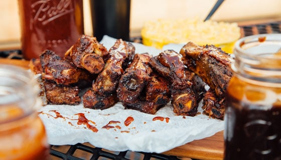 large plate of bbq ribs Brothers BBQ Colorado