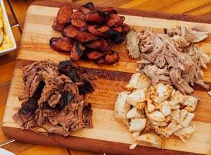 wood block offers bbq sampler Brothers BBQ Colorado