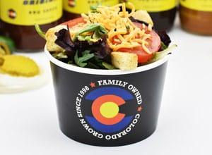 side salad option at Brothers BBQ Colorado