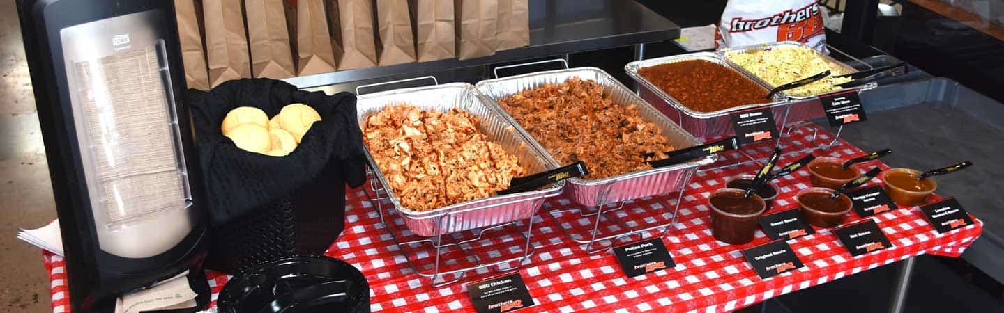 catering event on display during party Brothers BBQ Colorado